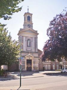 Torenuurwerk uit de Petrus en Pauluskerk in de hal van het museum Soest