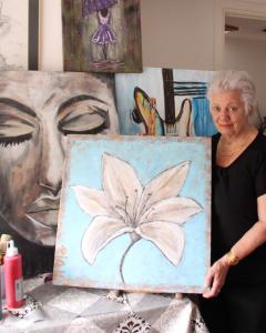 Expositie schilderijen van Ria Huurdeman Beijer